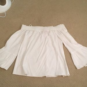 lily pulitzer white off the shoulder top